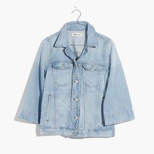 bell-sleeve jean jacket